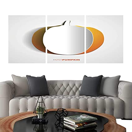 Awesome Amazon Com Uhoo 3 Piece Wall Art Painting Pumpkin Cut Out Download Free Architecture Designs Meptaeticmadebymaigaardcom