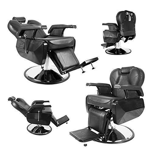 Professional Swivel Barber Chair Hydraulic Recline Barber Chairs Salon Chair for Hair Stylist Tattoo...