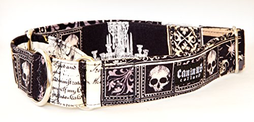 Caninus Collars Poe Edgar Allan Poe The Raven Dog Collar (Martingale, XXL 2