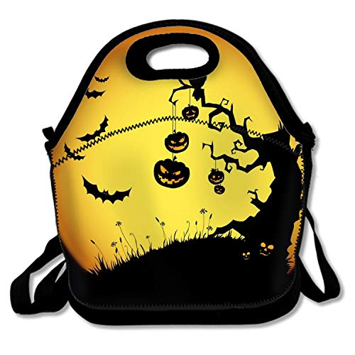 Halloween Deluxe Lunch Bag with Shoulder Strap for Men Women Kids