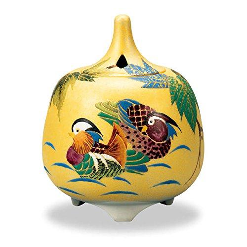 Japanese Ceramic Kutani ware. Japanese incense burner for tea ceremony, a couple of lovebirds with wooden box.'' Japanese ceramic Hagiyakiya 3015 by Kutani