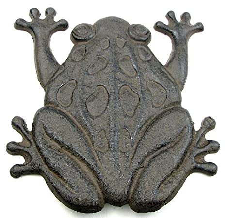 Amazon.com : Cast Iron Frog Stepping Stone Stones Home Decor Garden Art  Wall : Outdoor Figurine Lights : Garden U0026 Outdoor