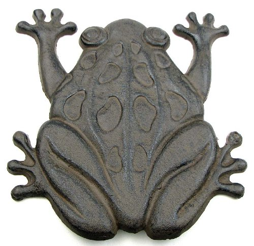 Cast Iron Frog Stepping Stone Stones Home Decor Garden Art Wall