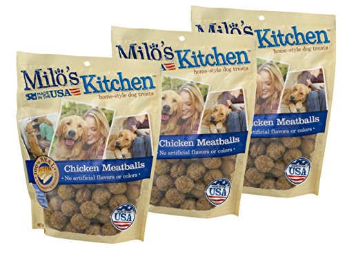 Milo's Kitchen Home Style Dog Treats, Chicken Meatball, 18 Ounce (Pack of 3)