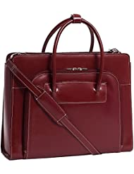 Mcklein 94336 LAKE FOREST LADIES BRIEFCASE RED