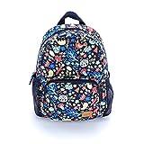 Girls Mini Backpack - Forest Animals Print (Multi-Navy)