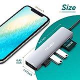 Falwedi 6 in 1 USB Type C HUB with to 4K@60Hz