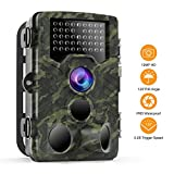 VICTONY Trail Game Camera – 1080P FHD IP65 Waterproof Scouting Camera, 120°Wide Angle PIR Sensor Motion Activated Night Vision Hunting Camera for Wildlife and Home Surveillance