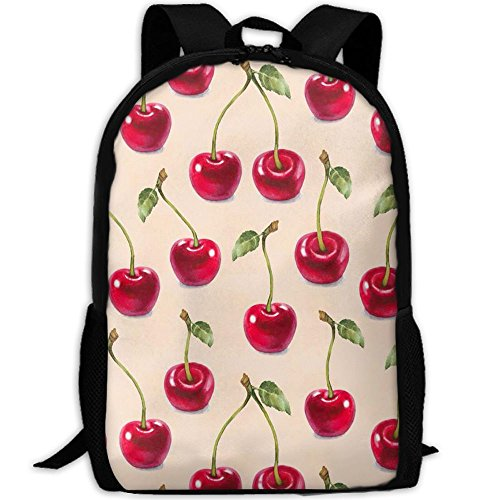 Cherry Pattern Adult Backpack College Daypack Oxford Bag Unisex Business Travel Sports - Creek Cherry At Mall Shops
