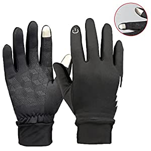 Winter Gloves - YooNow Touch Screen Gloves Windproof Thermal Anti-Slip Work Gloves Warm Driving Gloves Running Cycling Gloves Outdoor Indoor Sport Gloves for Men and Women (Black, S)