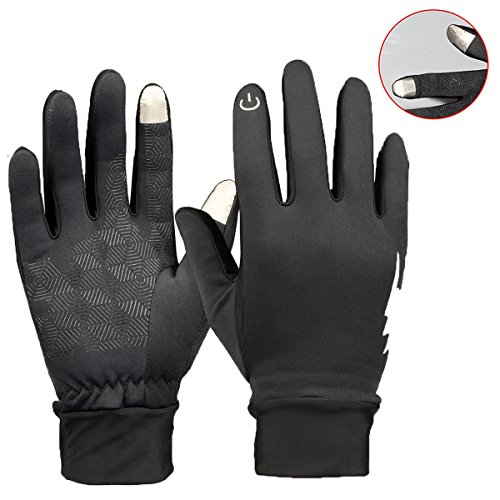 Winter Gloves - YooNow Touch Screen Gloves Windproof Thermal Anti-Slip Work Gloves Warm Driving Gloves Running Cycling Gloves Outdoor Indoor Sport Gloves for Men and Women (Black, S) (Best Winter Work Gear)