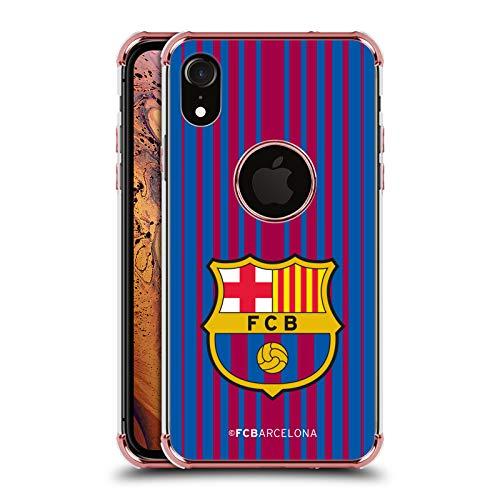 Official FC Barcelona Home 2017/18 Crest Kit Rose Shockproof Fender Case for iPhone -