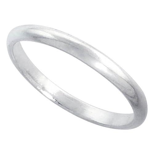 Revoni Plata esterlina 2 mm más delgadas Dome anillo pulgar punta/Anillo del dedo del pie: Amazon.es: Joyería