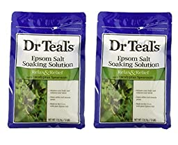 Dr. Teal\'s Epsom Salt Soaking Solution with Eucalyptus Spearmint, 48 Ounce, Pack of 2