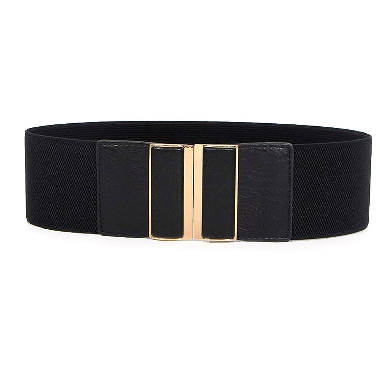Theresahay Women's Wide Elastic Stretch Waist Belt Waistband Luxury Designer