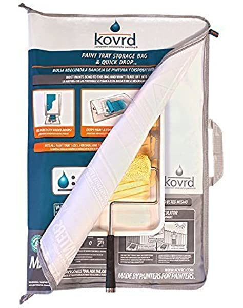 Kovrd Paint Tray Storage Bag And Quick Drop Drop Sheet Paint Tools Storage Bag Fits All Paint Tray Sizes Fits Over A 5 Gallon Bucket Built In Handle Designed For Repeated Use Paint