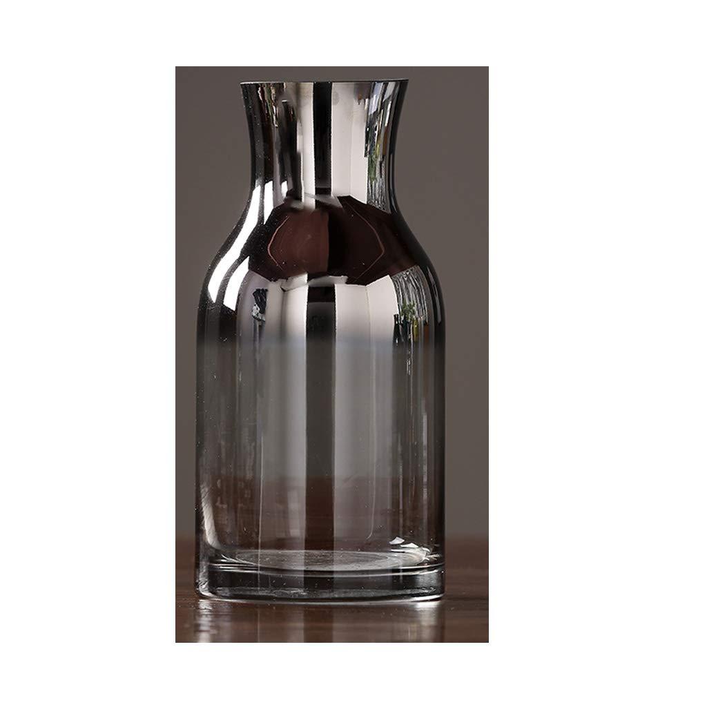 HBJP ガラス花瓶/水耕植物花瓶/リビングルームドライフラワーフラワーポットグレー 花瓶 (サイズ さいず : 30×13.5×9cm) B07S521XN2  30×13.5×9cm