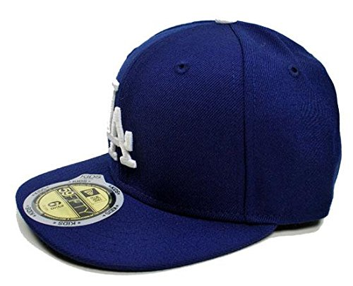 MLB Los Angeles Dodgers Game Youth AC On Field 59Fifty Fitted (Black 59fifty Youth Fitted Cap)