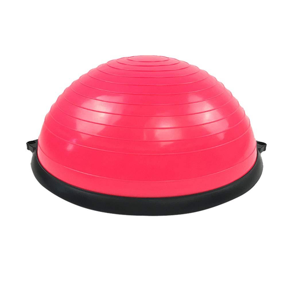 TESITE Balance Trainer Yoga Ball Fitness Ball Gewichtsverlust Rehabilitation Massage Hemisphere (Rose ROT)