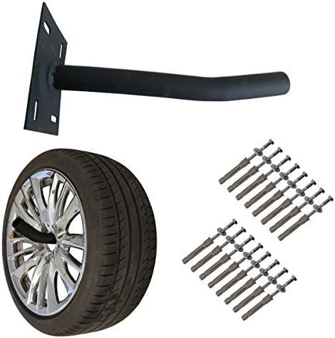 Wheel Hangers Set – Wall Mount Tire Rack Alternative – Space Saving Wheel Storage for Garage Shed, 4 Pack