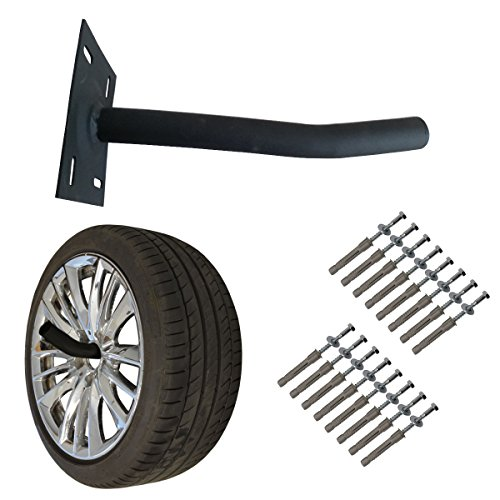 Wheel Hangers Set - Wall Mount Tire Rack Alternative - Space Saving Wheel Storage for Garage Shed, 4 Pack by Pro Space