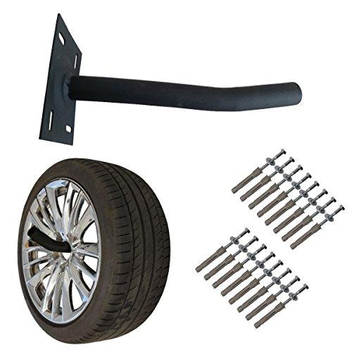 Cobra Silver Wheel - Wheel Hangers Set - Wall Mount Tire Rack Alternative - Space Saving Wheel Storage for Garage Shed, 4 Pack