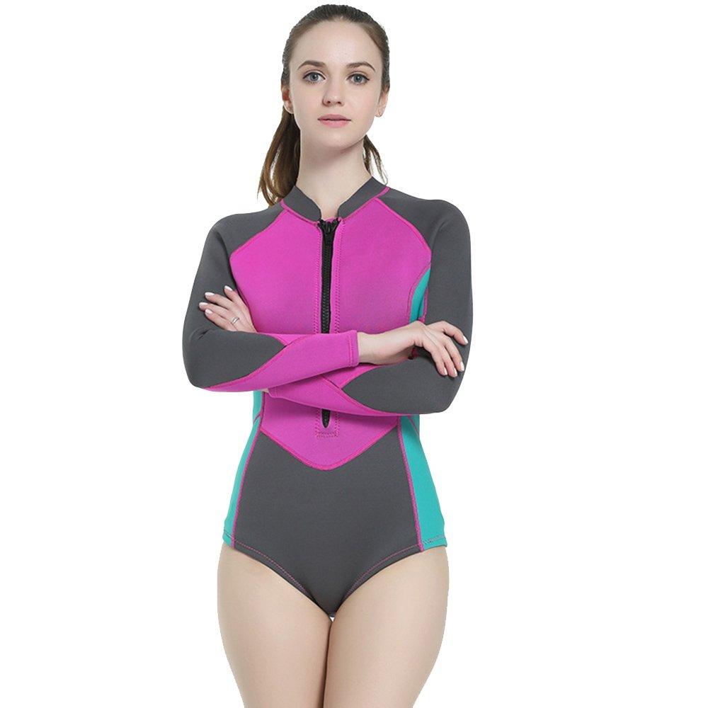 特価商品  女性用ウェットスーツ 女性のウェットスーツ2MM長袖の三角水着ダイビングスーツネオプレン防水ウォームダイビングスーツは、深海アドベンチャースポーツに適しています 女性のウェットスーツサーフィンセーリングジェットスキーカヌー水泳 M) (Size Small : M) (Size B07F6GJ6ZZ Small Small, 123market:a878be03 --- arianechie.dominiotemporario.com