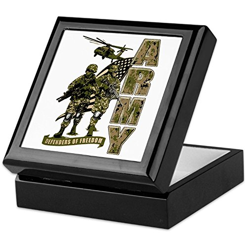 Keepsake Box Black US Army Defenders Freedom Soldiers