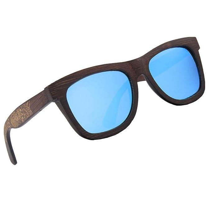 6214aa837f Gafas de Sol Polarizadas Negras de Madera para Hombre y Mujer de Woodies | Lentes  Oscuros