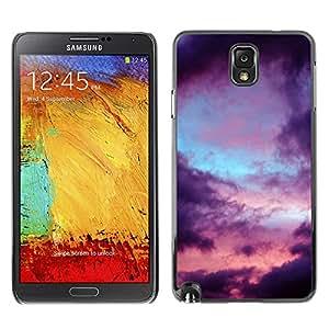 X-ray Impreso colorido protector duro espalda Funda piel de Shell para SAMSUNG Galaxy Note 3 III / N9000 / N9005 - Clouds Mood Nature Rain Sad