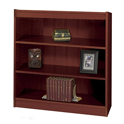 Safco 3-Shelf Square-Edge Veneer Bookcase (Recyclable Content) - Mahogany Electronics, Accessories, Computer