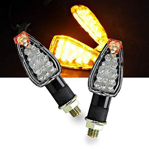 OXMART Motorcycle Turn Signals 2pcs LED Rear Turn Signals Amber