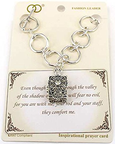 Jewelry Nexus Inspirational Religious - Psalms 23:4 Filigree Magnetic Box Prayer Message Toggle -