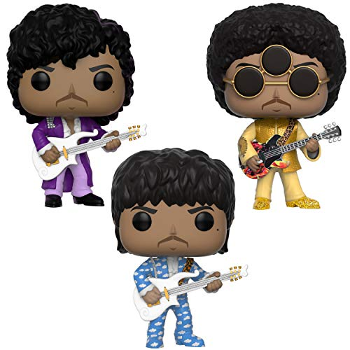 Purple Pop - Funko Rocks: Pop! Prince Collectors Set - Purple Rain, Around The World in A Day, 3Rd Eye Girl Toy