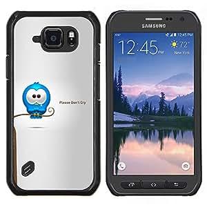 TECHCASE---Cubierta de la caja de protección para la piel dura ** Samsung Galaxy S6 Active G890A ** --Cry Tears dulce Cita del amor de la historieta Caring