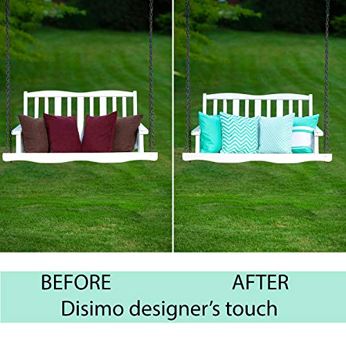 Disimo Throw Pillow Covers 18x18 Decorative Sofa Couch or Bed Pillowcases by approach of produce on both of many Sides Set of 4 Cotton Canvas Pillowcases w Vibrant Colors Refreshing Design