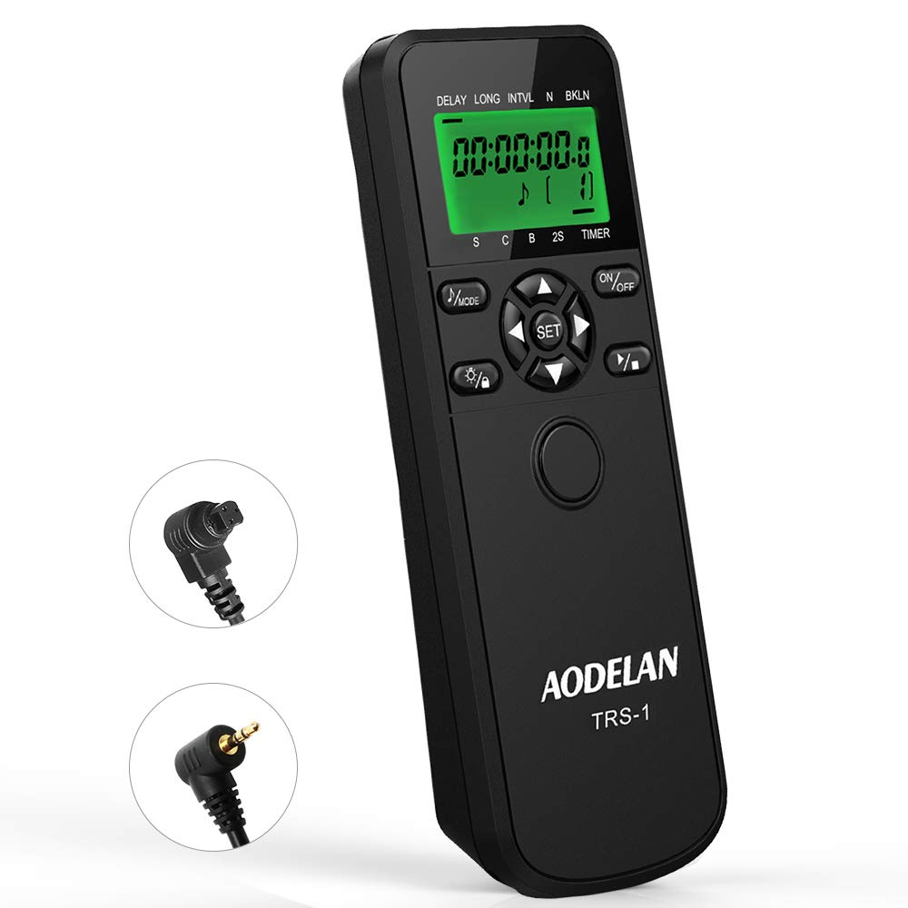 AODELAN Shutter Release Timer Remote Control for Canon M6 Mark II, EOS R, RP, 90D, 80D, 77D, 70D, 800D, 200D, 100D, 1500D, 1300D, 7D Series; Replace TC-80N3 & RS-60E3 by AODELAN