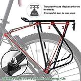 Bike Cargo Rack w/Bungee Cargo Net & Reflective