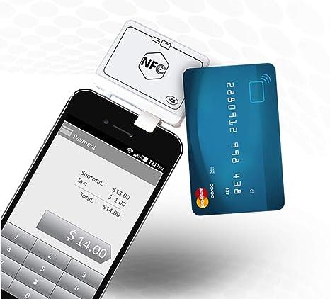YUHUANG Lector de Tarjeta NFC, Conector de Audio Lector de ...