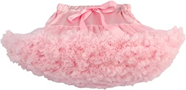 Tinksky Niñas Tutú Falda de Tul Enagua Falda de Ballet (Rosa ...