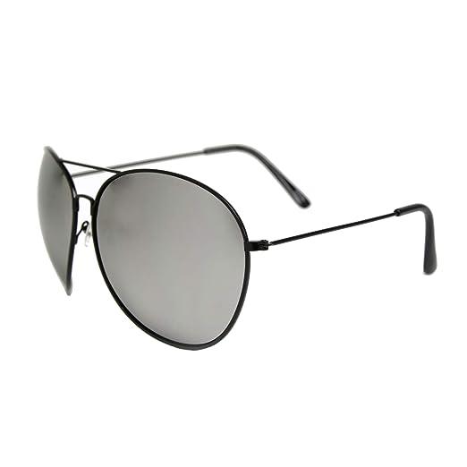 84e46ba565 Amazon.com  Men s Oversize XXL Mirrored Aviator Rockstar Glasses ...