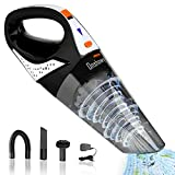 Handheld Vacuum Cleaner, Onshowy Vacuum Cleaner Cordless Lightweight Powerful Suction Vacuum Cleaner Portable Household Quick Charge Vacuum Cleaner with Stainless Steel HEPA Suit for Home&Car
