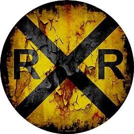Black on Yellow Legend Railroad Crossing Aluminum 30 Width x 30 Height RXR Tapco W10-1 High Intensity Prismatic Circle Railroad Sign