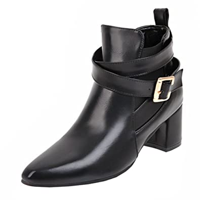 Women Fashion Bootie Slip-On Monk-Strap