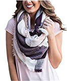 Huiyuzhi Womens Stylish Warm Plaid Blanket Scarf Gorgeous Wrap Shawl