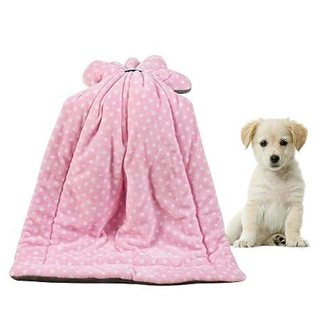 KOBWA Manta para Perro para Cama o sofá, Manta de Forro Polar Suave y cálida