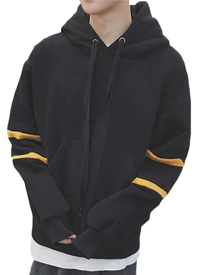 XQS Mens Winter Hoodies Relaxed Fit Fleece Hipster Pullover Sweatshirts