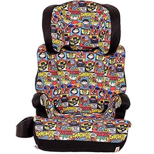 KidsEmbrace High-Back Booster Car Seat, DC Comics Chibi Justice League