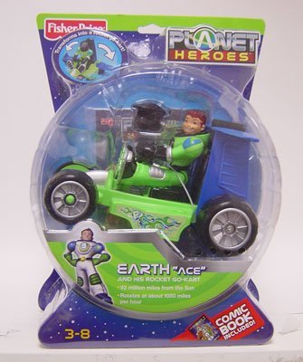 Fisher-Price Planet Heroes - Earth (Ace with Cart)
