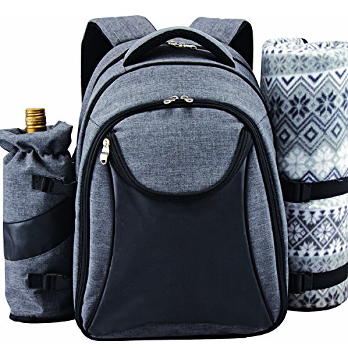 Discover Bargain Scuddles - Picnic Backpack Cooler Insulated Lunch Bag Tote   Waterproof Set For Cam...